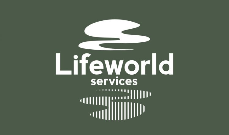 lifeworld services logo design